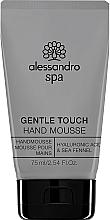 Parfumuri și produse cosmetice Mousse pentru mâini - Alessandro International Spa Gentle Touch Hand Mousse