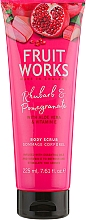 "Parfumuri și produse cosmetice Scrub de corp ""Rhubarb și rodie"" - Grace Cole Fruit Works Body Scrub Rhubarb & Pomegranate"