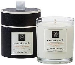 """Parfumuri și produse cosmetice Lumânare naturală """"Portocală, cedru și cuișoare"""" - Apivita"""