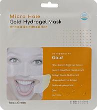 Parfumuri și produse cosmetice Mască hidrogel pentru față - Beauugreen Micro Hole Gold Energy Hydrogel Mask