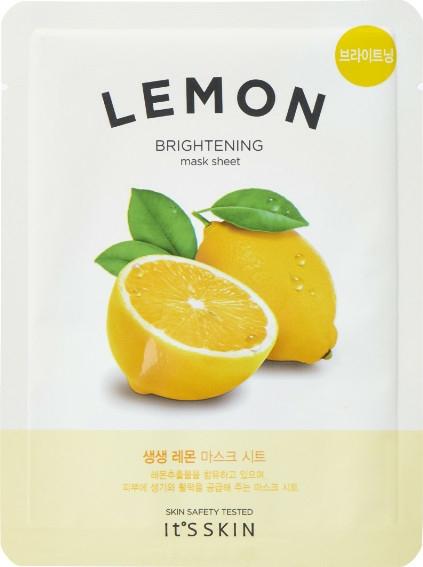 Mască de țesut cu extract de lămâie - It's Skin The Fresh Mask Sheet Lemon — Imagine N1