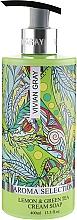 """Parfumuri și produse cosmetice Săpun-cremă lichid """"Lămâie și ceai verde"""" - Vivian Gray Aroma Selection Lemon & Green Tea Cream Soap"""