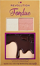 Parfumuri și produse cosmetice Paletă highlighter - I Heart Makeup Revolution Highlighter Palette Chocolate Fondue