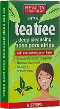 Parfumuri și produse cosmetice Frize demachiante pentru nas - Beauty Formulas Tea Tree Deep Cleansing Nose Pore Strips