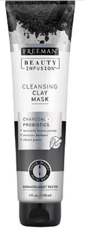Mască de față purificatoare cu carbon activ, probiotice și ser - Freeman Beauty Infusion Cleansing Clay Mask Charcoal & Probiotics