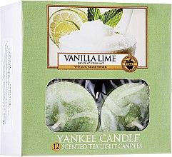 Parfumuri și produse cosmetice Lumânări pastile - Yankee Candle Scented Tea Light Candles Vanilla Lime