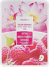 Parfumuri și produse cosmetice Mască de țesut pe bază de flori de lotus și zmeură - Deoproce Color Synergy Effect Sheet Mask Pink