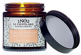 """Parfumuri și produse cosmetice Lumânare parfumată """"Vanilie-Patchouli"""" - Le Chatelard 1802 Leather & Oud Scented Candle"""