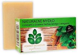 """Parfumuri și produse cosmetice Săpun natural """"Ulei de arbore de ceai și oregano"""" - Powrot Do Natury"""