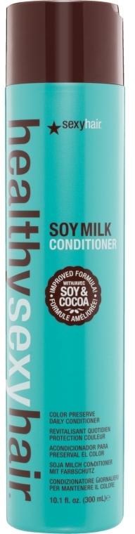 Balsam pe bază de lapte de soia pentru păr vopsit - SexyHair HealthySexyHair SoyMilk Conditioner — Imagine N1