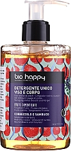 """Parfumuri și produse cosmetice Gel pentru față și corp """"Căpșuni și soc"""" - Bio Happy Arbutus & Elderberry Face & Body Wash"""