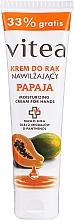 Parfumuri și produse cosmetice Cremă hidratantă cu papaya pentru mâini - Vitea Moisturizing Hand Cream Papaja
