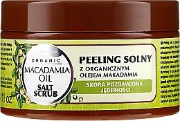 Parfumuri și produse cosmetice Peeling de sare cu ulei de macadamia - GlySkinCare Macadamia Oil Salt Scrub