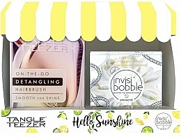 Parfumuri și produse cosmetice Set - Tangle Teezer Compact Styler Hello Sunshine Set (brush/1szt + hair/tie/1szt)