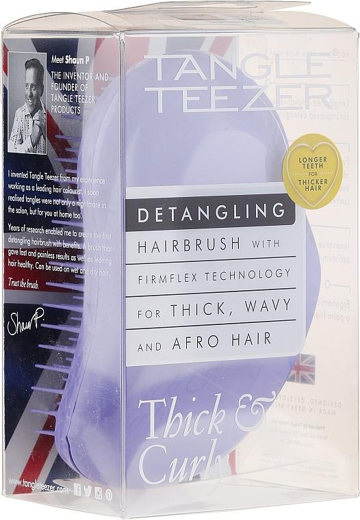 Pieptene pentru păr des și cret, liliac - Tangle Teezer Detangling Thick & Curly Lilac Fondant