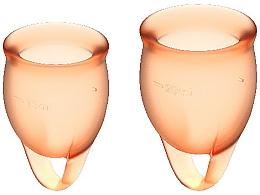 Parfumuri și produse cosmetice Set cupe menstruale, portocaliu - Satisfyer Feel Confident Menstrual Cups Orange
