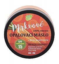 Parfumuri și produse cosmetice Cremă de protecție solară - Vivaco Bio Carrot Suntan Butter SPF 15
