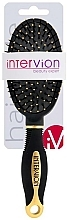 Parfumuri și produse cosmetice Perie pneumatică de păr, 499252, negru-aurie - Inter-Vion
