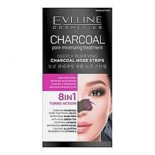Parfumuri și produse cosmetice Patch-uri de curățare pentru nas - Eveline Cosmetics Charcoal Nose Strips