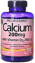 Parfumuri și produse cosmetice Calciu și vitamina D - Holland & Barrett Calcium with Vitamin D3 200mg