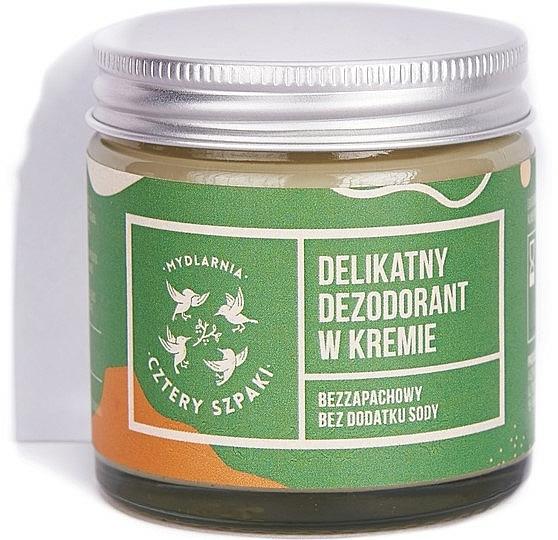 Deodorant-cremă delicat, fără bicarbonat de sodiu - Cztery Szpaki