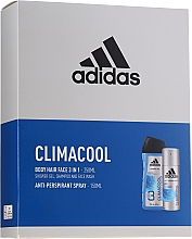 Parfumuri și produse cosmetice Set - Adidas Climacool For Men (deo/spray/150ml + sh/gel/250ml)