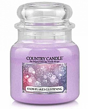 Parfumuri și produse cosmetice Lumânare aromatică - Country Candle Snowflakes Glistening