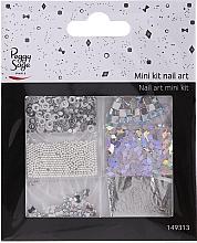 Parfumuri și produse cosmetice Set pentru designul unghiilor, 149313 - Peggy Sage Mini Kit Nail Art Argent (6 buc.)