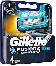 Parfumuri și produse cosmetice Casete de rezervă pentru aparat de ras - Gillette Fusion Proshield Chill