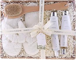 Parfumuri și produse cosmetice Set - Baylis & Harding Urban Barn Lime, Basil & Mint Set (h/cr/50ml + sh/cr/100ml + b/cr/50ml + sh/gel/50ml + back/brush/1 + slippers)