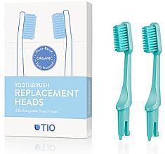 Parfumuri și produse cosmetice Duze înlocuibile pentru periuța de dinți, moi, turcuoaz - TIO Toothbrush Medium