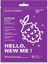 Parfumuri și produse cosmetice Mască de față - Boys`n Berries Hello, New Me! Litchi Mask