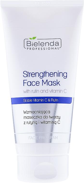 Masca pentru fermitatea feței cu Rutin & Vitamina C - Bielenda Professional Program Face Strengthening Face Mask