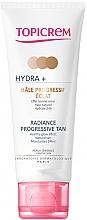 Parfumuri și produse cosmetice Cremă auto-bronzantă pentru față și gât - Topicrem Hydra+ Radiance Progressive Tan