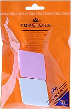 Parfumuri și produse cosmetice Burete de machiaj, roz + alb, 6432 - Top Choice
