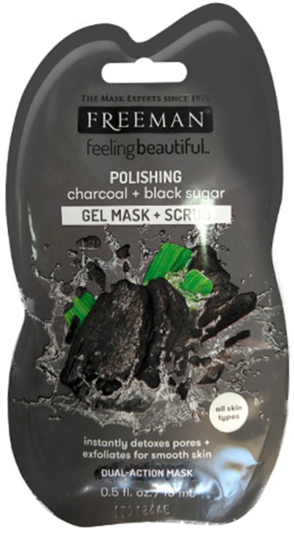 "Mască de față ""Zahăr Negru"" - Freeman Feeling Beautiful Charcoal & Black Sugar Polishing Mask (miniatură) — Imagine N1"