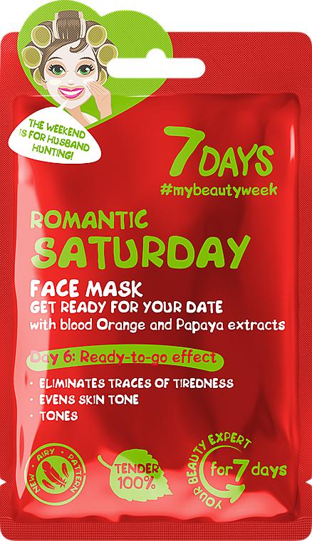 """Mască de față, pregătire pentru întâlnire """"Romantic Saturday"""" - 7 Days Romantic Saturday — Imagine N1"""