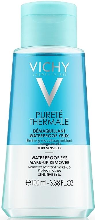 Demachiant de ochi în 2 faze - Vichy Purete Thermale Waterproof Eye Make-Up Remover — Imagine N1