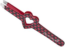 Parfumuri și produse cosmetice Pensetă pentru sprâncene, inimi roșii - Glamtech Valentines Tweezer