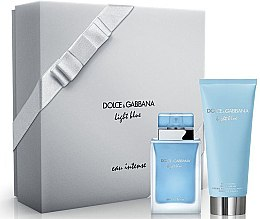 Parfumuri și produse cosmetice Dolce & Gabbana Light Blue Eau Intense - Set (edp/50ml + b/cr/100ml)