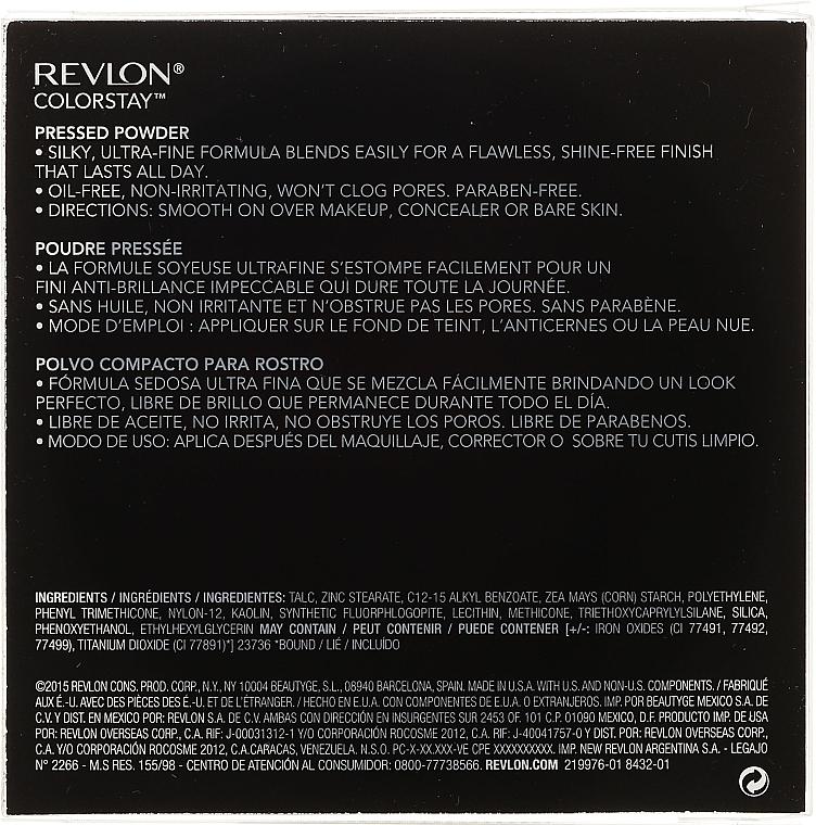 Pudră compactă rezistentă - Revlon Colorstay Finishing Pressed Powder — Imagine N3