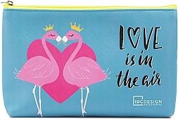 Parfumuri și produse cosmetice Trusă cosmetică cu imprimeu, albastră - IDC Institute Design Accessories Cosmetig Bag