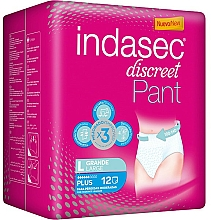 Parfumuri și produse cosmetice Absorbante, 12 buc - Indasec Discreet Pant Plus