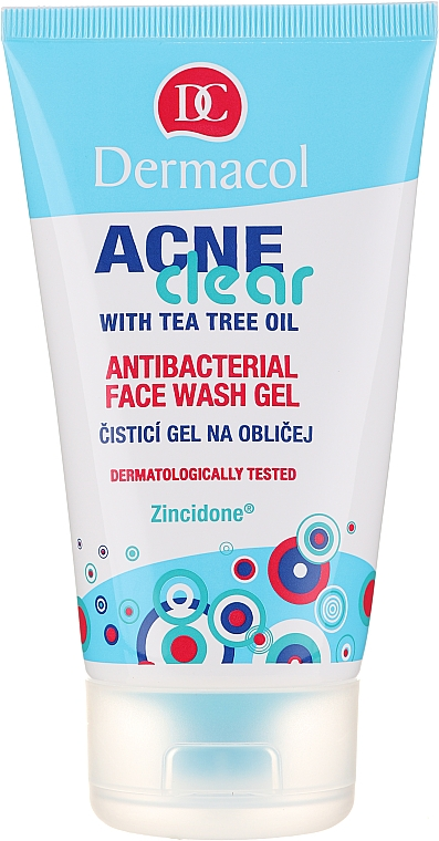 Gel antibacterian de curățare - Dermacol Acne Clear Antibacterial Face Wash Gel