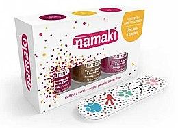 Parfumuri și produse cosmetice Set - Namaki (polish/7.5ml+acc) (Caribbean + Coral-bronze + Lime)