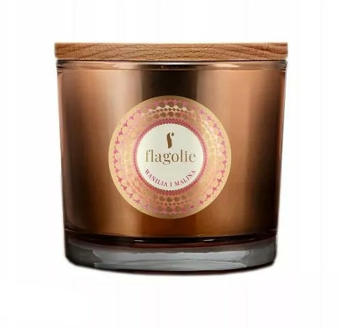 "Lumânăre aromată, în pahar ""Vanilie și Zmeură"" - Flagolie Fragranced Candle Vanilla And Raspberry — Imagine N1"