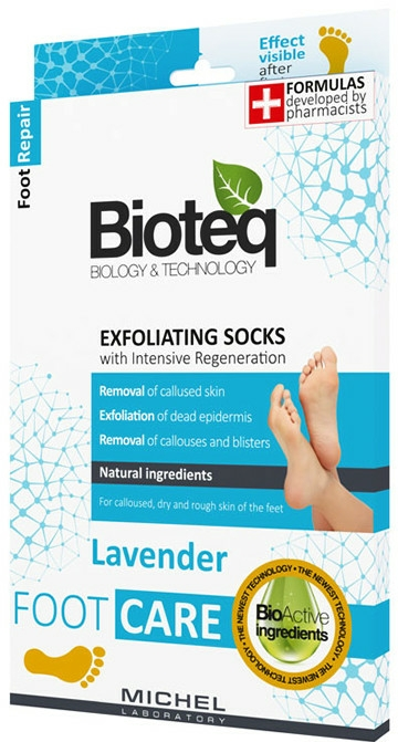 Șosete exfoliante - Bioteq Exfoliating Socks Lavender — Imagine N1