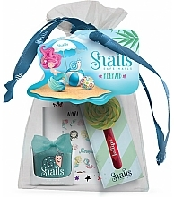 Parfumuri și produse cosmetice Set - Snails Mermaid Pouch (lip/gloss/3ml + nail/polish/10.5 ml + nail/sticker/1pcs + pouch)