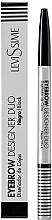 Parfumuri și produse cosmetice Creion pentru sprâncene - LeviSsime EyeBrow Designer Duo