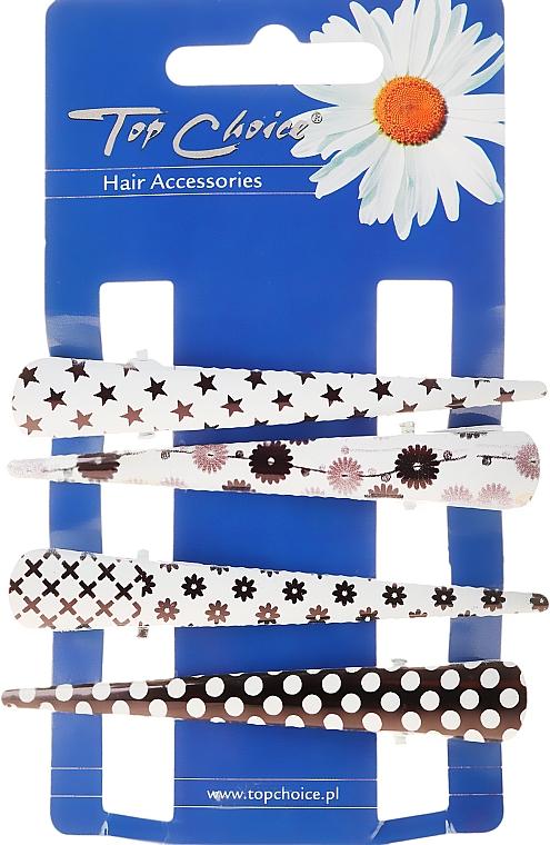 Agrafe de păr, 25099, alb-negru - Top Choice